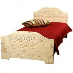 Односпальная кровать Аури 120х190 из массива сосны.