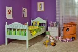Детская односпальная кровать F2 90х190 из массива сосны.