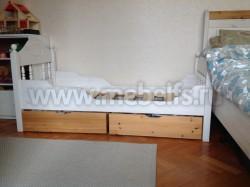 Детская кровать F2 (Фрея) 60х140 с двумя выдвижными ящиками