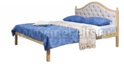 Кровать с мягким изголовьем К1 80х190 из массива