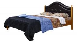 Кровать с мягким изголовьем К1 80х200 из массива