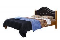 Кровать с мягким изголовьем К1 90х190 из массива
