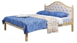 Кровать К1 (Кая) 90х200 с мягким изголовьем из массива