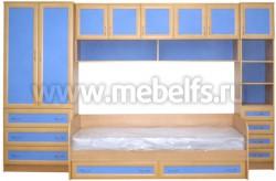 Модульная мебель для детской комнаты - УШ3 с кроватью (БСГ).