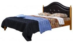 Кровать с мягким изголовьем К1 140х190 из массива