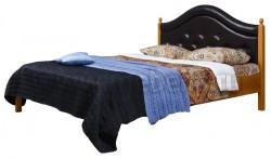 Кровать с мягким изголовьем К1 160х190 из массива