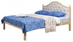 Кровать с мягким изголовьем К1 160х200 из массива