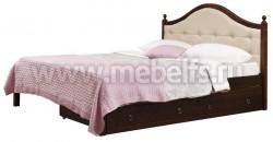 Кровать с мягким изголовьем К1 80х190 и двумя ящиками