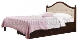 Кровать К1 (Кая) 80х200 с мягким изголовьем и двумя ящиками