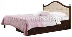 Кровать К1 (Кая) 90х190 с мягким изголовьем и двумя ящиками