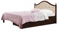 Кровать с мягким изголовьем К1 90х200 и двумя ящиками