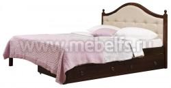 Кровать с мягким изголовьем К1 140х190 и двумя ящиками