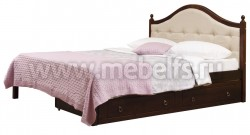 Кровать с мягким изголовьем К1 140х200 и двумя ящиками