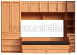 Модульная мебель для детской комнаты - УШ3 с кроватью (О).