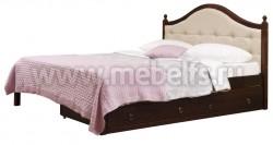 Кровать с мягким изголовьем К1 160х200 и двумя ящиками