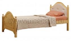 Кровать К2 (Кая) 90х200 с мягким изголовьем из сосны