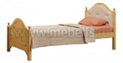Кровать К2 (Кая) 90х190 с мягким изголовьем из сосны