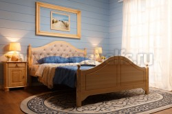 Кровать с мягким изголовьем К2 (Кая) 140х190 из сосны