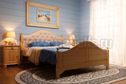 Кровать с мягким изголовьем К2 (Кая) 140х200 из сосны