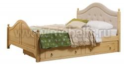 Кровать с мягким изголовьем К2 (Кая) 140х200 и ящиком для белья