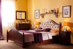Кровать с мягким изголовьем К2 (Кая) 160х190 и ящиком для белья