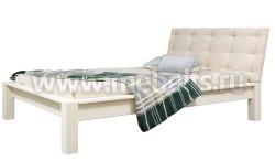 Двуспальная кровать Брамминг-1 с мягким изголовьем 140х200см