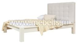 Двуспальная кровать Брамминг-3 с мягким изголовьем 140х200см