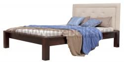Двуспальная кровать Брамминг-2 с мягким изголовьем 140х200см