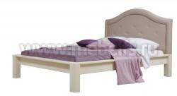 Двуспальная кровать Брамминг-4 с мягким изголовьем 160х200см