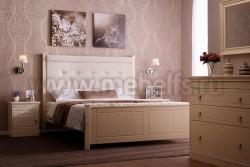 Кровать с мягким изголовьем Дания-4 140х200см из сосны