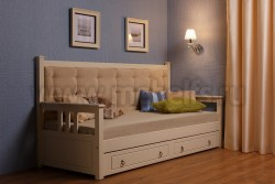Кровать тахта Дания мягкая 90х190 без ящиков
