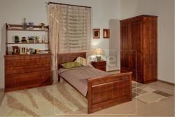 Кровать односпальная Дания-1 120х200 из сосны.