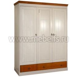 Шкаф трехстворчатый Дания №3 из массива сосны.