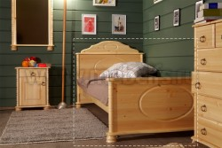 Односпальная кровать Айно 80х200 из массива сосны.