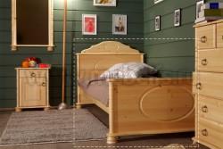 Односпальная кровать Айно 90х190 из массива сосны.
