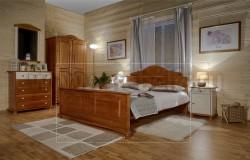 Двуспальная кровать Айно 140х200 из массива сосны.