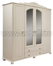 Шкаф 4-створчатый Айно с ящиками из массива сосны
