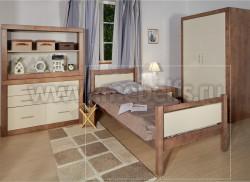 Кровать односпальная Брамминг 80х200см из массива