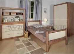 Кровать односпальная Брамминг 120х200см из массива