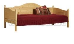 Кровать тахта K3.2 (80x200) для пожилых людей из сосны.