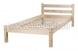 Кровать классика-2 (90x200/1) для пожилых людей из массива.