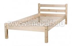 Кровать классика-2 (90x190/1) для пожилых людей из массива.