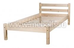 Кровать классика-2 (70x190/1) для пожилых людей из массива.