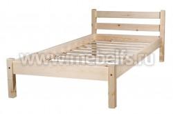 Кровать классика-2 (70x200/1) для пожилых людей из массива.