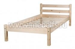 Кровать классика-2 (80x190/1) для пожилых людей из массива.