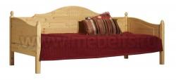 Кровать тахта K3.2 (90x190) для пожилых людей из сосны.