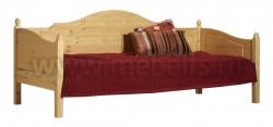 Односпальная кровать тахта K3 (Кая) 90x190 из массива сосны.