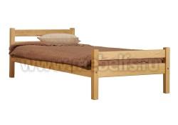 Кровать классика-2 (80x190) для пожилого человека из сосны.