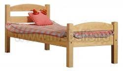 Кровать классика-2 дуга (80x200) для пожилого человека из сосны.
