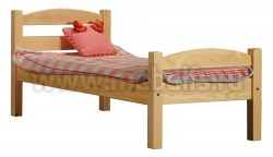 Кровать классика-2 дуга (90x200) для пожилого человека из сосны.